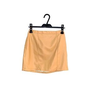 COPY - Forever 21 Tan Leather Skirt, Size S